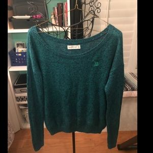 A&F kit teal sweater